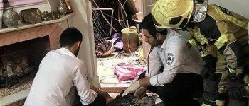 سقوط مرگبار مرد جوان از بالای برج مخابراتی در خیابان پیروزی